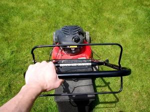 Mower, outdoor decals, custom equipment labels, custom weatherproof labels