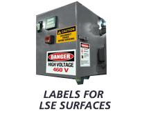 Labels for LSE plastics and Powder Coated Paints