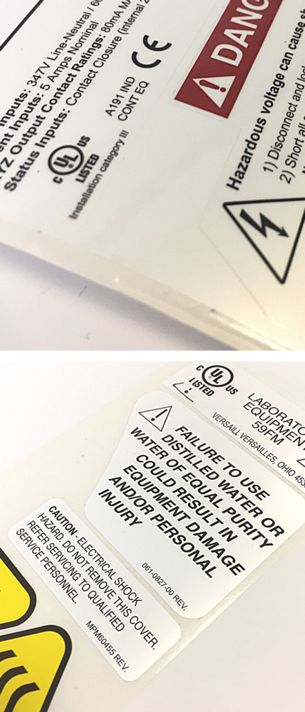 UL Approved Labels, Performance Labels, Certified Labels, UL Labels