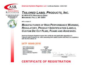 IATF 16949 Certification, Automotive Quality Standard
