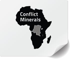 Conflict Minerals Compliant Label, Compliance Labels, Label Compliance, Supply Chain Compliance, CONFLICT MINERALS REGULATION