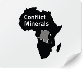 Conflict Minerals Compliant Label, Compliance Labels, Label Compliance, Supply Chain Compliance, CONFLICT MINERALS REGULATION