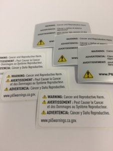 Prop 65 Label, Prop 65 Labels, Prop 65 Label Requirements, Prop 65 Warning Labels