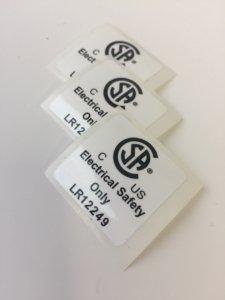CSA Label with TLP, CSA Warning Label, CSA Labels, CSA Warning Labels