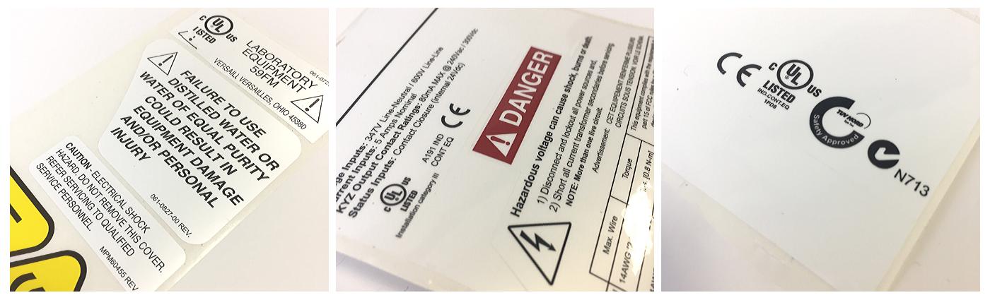 UL Approved Label, Warning Labels, Label Regulations, Regulatory Label, UL Labels, UL Labeling Requirements, PGJI2 Label, UL 969 Labels, UL Labeling